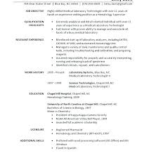 Lab Tech Cover Letter Cover Letter Medical Laboratory Technologist