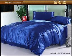 7pcs silk royal blue bedding set satin sheets california king queen full twin size duvet cover bed sheet quilt bedspread linen in bedding sets from home