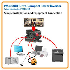 amazon com tripp lite pv3000hf compact inverter 3000w 12v dc to pv3000hf application diagram simple installation and equipment connection