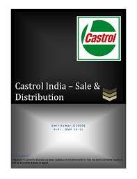 Castrol Grease Comparison Chart Castrol Sales Distribution Mgmt