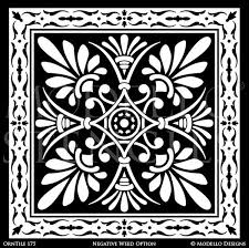art tile designs. Simple Tile Classic And Detailed Tile Designs For Floor Painting Ceiling Decor   Modello Custom Stencils Throughout Art I