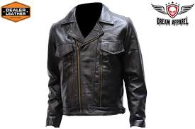men s leather motorcycle jacket with vent s