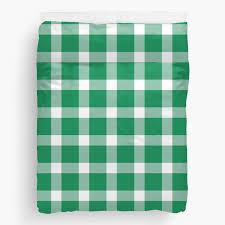 plaid emerald green duvet cover queen