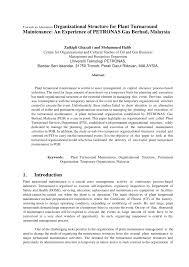 Pdf Towards An Alternative Organizational Structure For