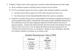 propane c3hs g reacts with oxygen gas to produce carbon