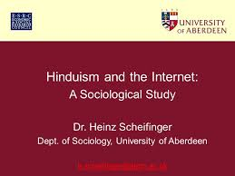 hinduism and the internet a sociological study dr heinz  hinduism and the internet a sociological study dr