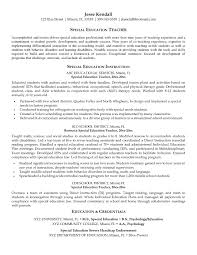 Sample Resume For Special Education Instructional Assistant New