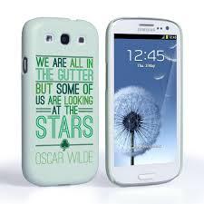 samsung galaxy s3 mini. caseflex samsung galaxy s3 mini wilde stars quote hard case \u2013 white and green