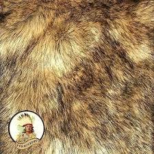 wolf pelt rug faux wolf skin accent pelt rug coyote throw rectangle premium faux fur faux
