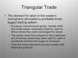 ap world atlantic slave trade triangular trade