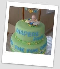Picture of Clothesline Baby Shower Cake