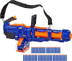 Light Blue Nerf Guns Nerf Elite Titan Cs 50 Toy Blaster Fully Motorized 50 Dart Drum 50 Official Elite Darts Spinning Barrel For Kids Teens Adults