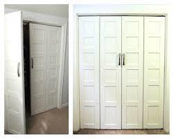 White Bifold Closet Door Hardware — Closet Ideas : Popular Bifold ...