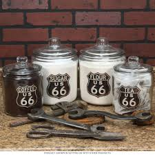Purple Kitchen Canister Sets Route 66 Glass Kitchen Canister Set Glass Lids Food Storage Jars