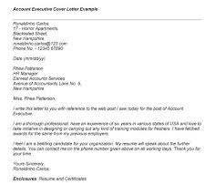 Collection Of Solutions Account Executive Cover Letter Entry Level