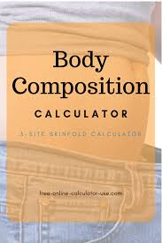 3 Point Body Fat Caliper Chart Body Composition Calculator 3 Site Skin Fold Test Man Or