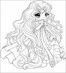Anime Chibi Princess Printable Elegant Chibi Anime Coloring Pages