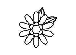 simple adorable flower doodle