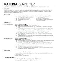 Sample Resume Retail Sales Associate No Experience For Manager