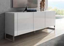 modern furniture credenza. tres sideboard a sleek modern with plain handleless doors contemporary chromed legs furniture credenza o
