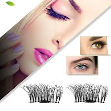 4pcs/box 3D Eye <b>Lashes Extension Magnetic</b> Eyelashes <b>Makeup</b> ...
