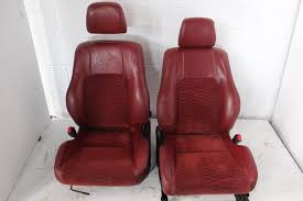 97 01 jdm sir type s 5th gen honda prelude oem red leather cloths red seat