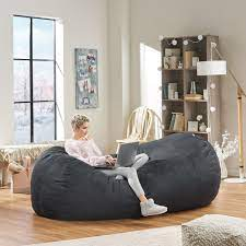 Baron 8 Foot Suede Bean Bag Cover Only By Christopher Knight Home Overstock 28081470