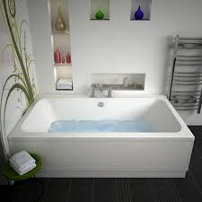 vernwy 1800x1100mm jumbo bath with chrome bath filler tap and overflow waste