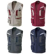 Multi Pocket Mesh <b>Reflective</b> Work Vest Waistcoat Fishing <b>Hunting</b> ...