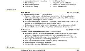 Resume Resume Examples Sample Resume Templates For Teachers With