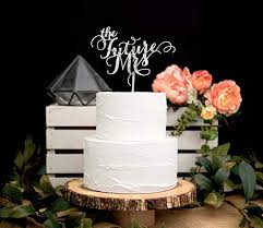 Amazoncom Bridal Shower Cake Topper In Glitter The Future Mrs