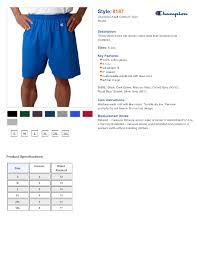 Champion Mens Shorts 2xl