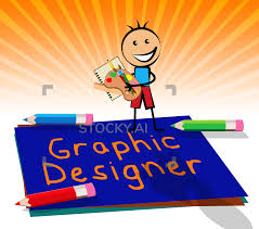 Designer 3d Job Image Of Graphic Designer Displays Designing Job 3d Illustration