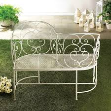 white iron patio furniture. charming love seat bench for two white metal 475 inch length iron patio furniture