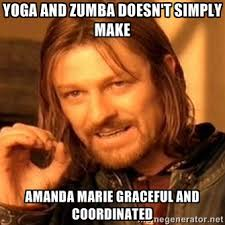Yoga and Zumba doesn't simply make Amanda Marie graceful and ... via Relatably.com