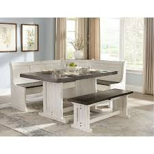 two tone french country 4 piece corner dining set bourbon county includes table