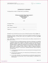 Free Nda Template Non Disclosure Form Template Standard Model Agreement Doc