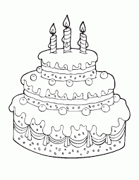 Small Picture Printable Cake Happy Birthday Coloring Pages Free coloring 6