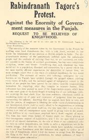 making of the modern world hi ideologies and states rabindranath tagore s protest against the enormity of government measures in the punjab c1919