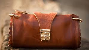 womens leather wallet brown