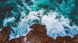 hd wallpaper ocean cliff drone view 4k