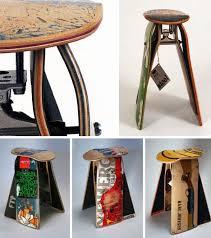 recycled furniture design. Recycled Skateboard Furniture Design