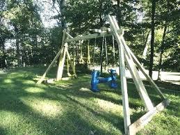diy wood swing set swing set plans outdoor diy small swing set diy wooden swing set