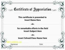 Military Certificate Of Appreciation Template Interesting Certificate Of Appreciation Wording Examples Free Fillable