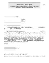 security deposit demand letter template florida