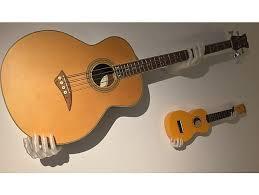 horizontal sideways guitar wall mount
