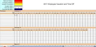 Vacation Calendar Templates 2011 Employee Vacation Tracking Calendar Template Vacation