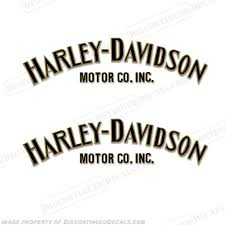harley davidson fuel tank decals set of 2 style 1 any color