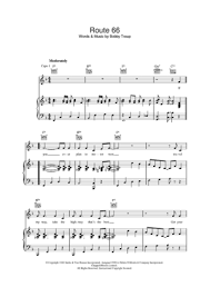 Route 66 By Piano Troup vocal Scored Bobby For chords