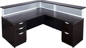 l shaped reception desk. L Shaped Reception Desk With Large Transaction Counter O